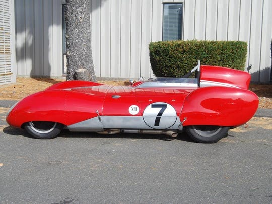 Rocky Grady's entry this year. Bet you never saw one of these 1957 Lotus 11 LeMans race cars. Come see it on Jan. 13.