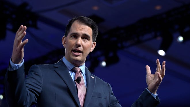 Wisconsin Gov. Scott Walker speaks at the Conservative Political Action Conference n Oxon Hill, Md., Thursday.