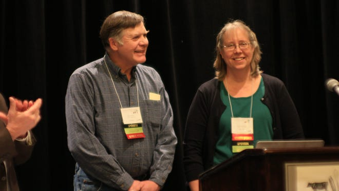 Klaas and Mary-Howell Martens of Lakeview Organic Grain in Penn Yan, Yates County, were named NOFA-NY Farmers of the Year at the winter conference of the Northeast Organic Farming Association of New York's winter conference in Saratoga Springs. NOFA-NY's headquarters are in Farmington.