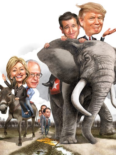The illustration with the final 2016 Iowa caucuses