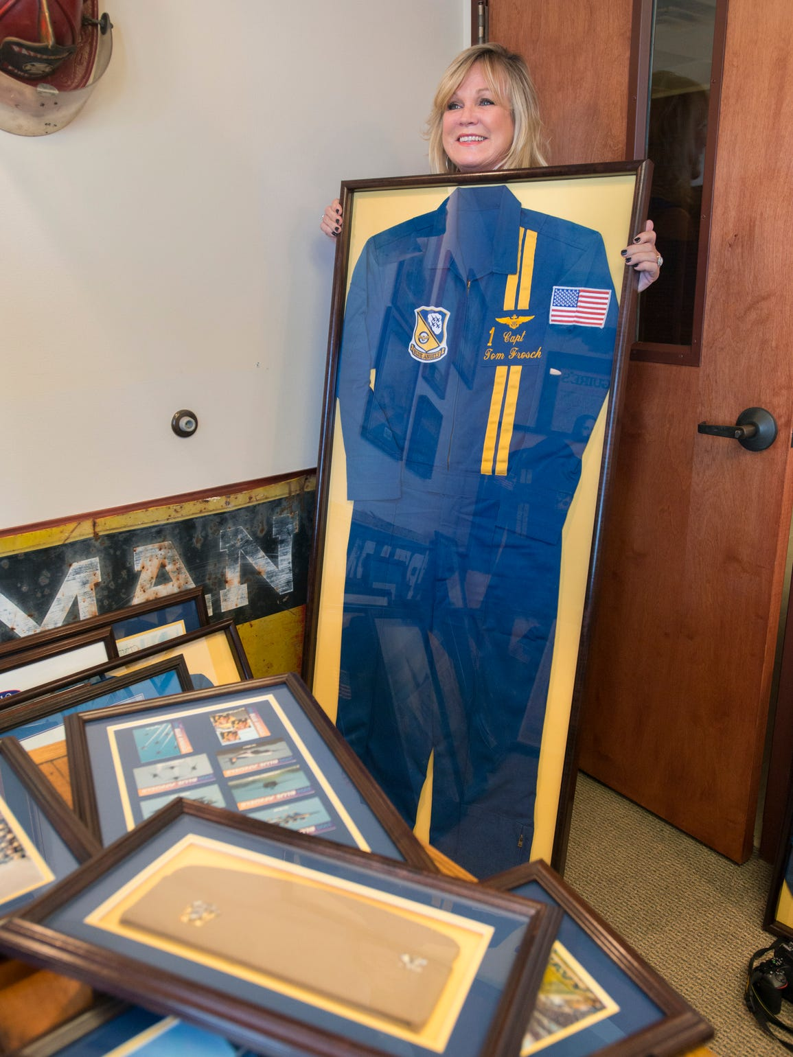 Amy Martin talks about the Blue Angels memorabilia
