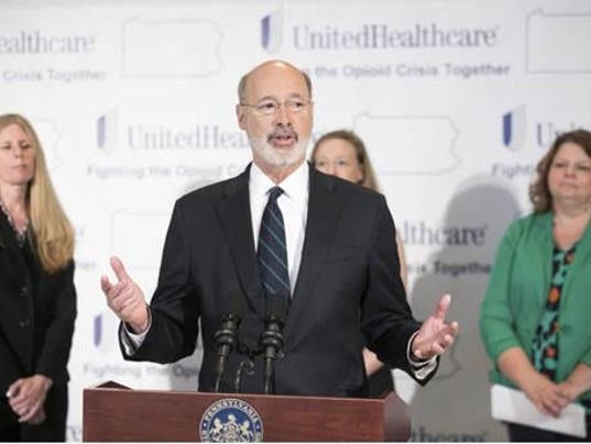Governor Tom Wolf speaks on opioid crisis