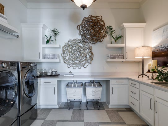 Another Legend Homes laundry room in the Hideaway at