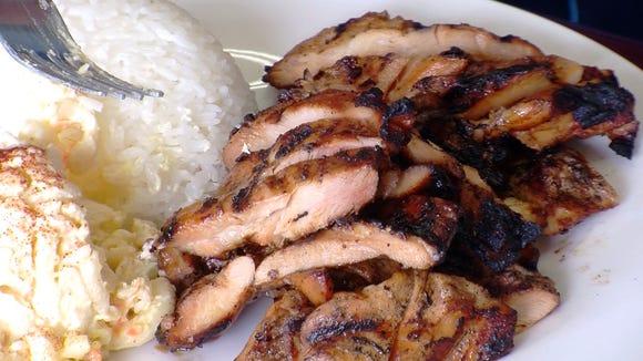 Hawaiian BBQ Chicken at the Island Hut.