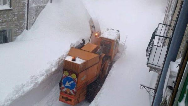 The snowfall in Italy may not have been a world record.
