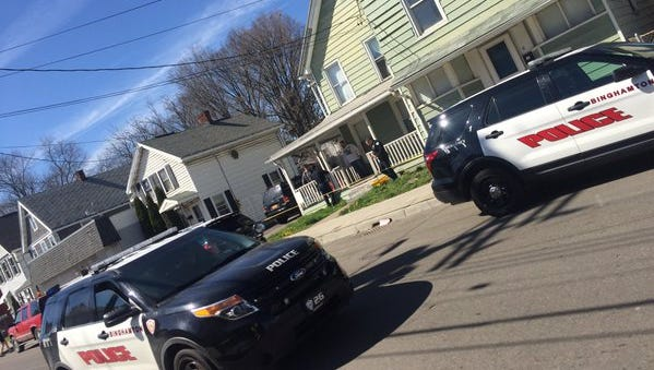 Police were at the scene of a reported stabbing on Robinson Street on Tuesday.