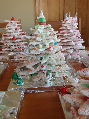 The Doll family has made cookie trees together each year since the 1940s.