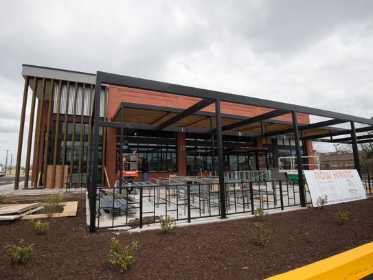View of the new Iron Hill Brewery and Restaurant in