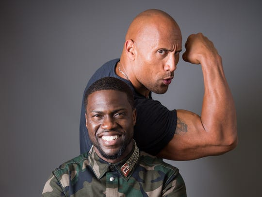 Kevin Hart and The Rock, photographed at the Ritz-Carlton