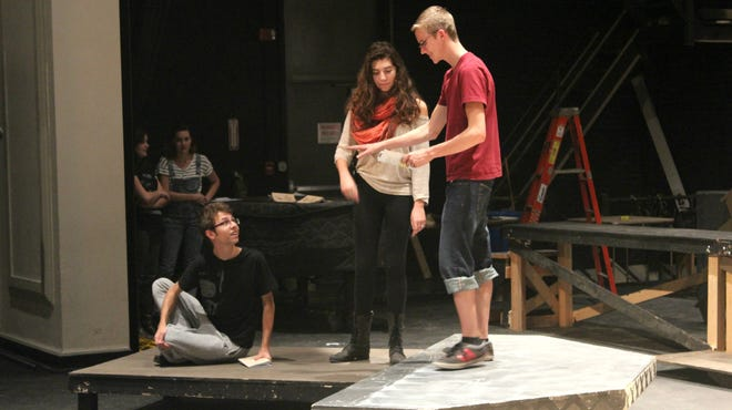 City High students rehearse.
