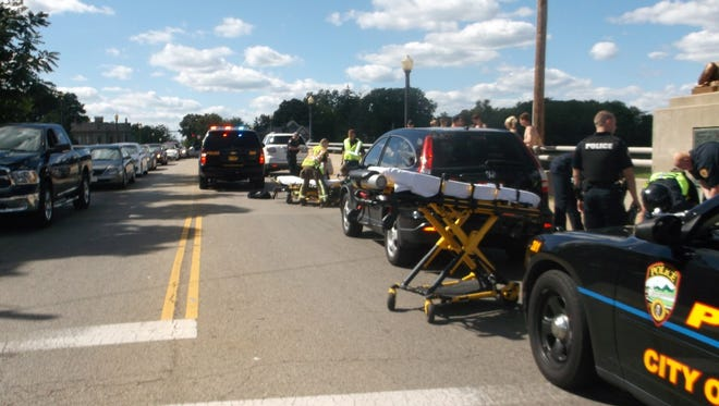 Two cross country runners were hit by a car in Franklin Monday.