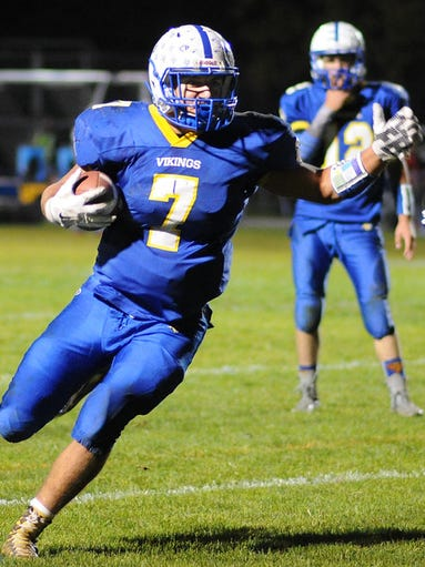 Northern Lebanon's Luke Funck carries the ball during