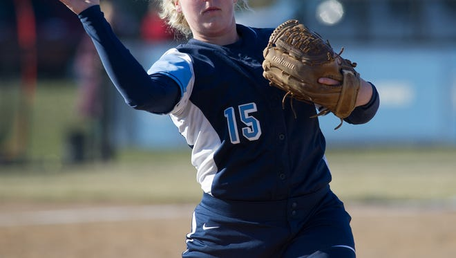 Kerrigan Simpson, shown here against Dover earlier this season, hit a solo home run in the sixth inning Tuesday to lift Lake Forest to a 3-2 win over Charter of Wilmington.