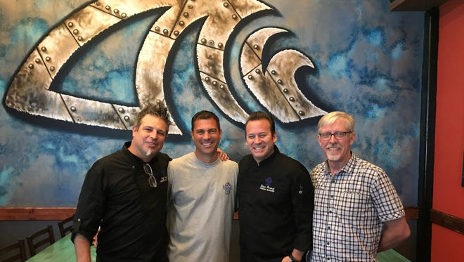 The team behind Rising Tide Tap & Table includes executive chef Jeff Kainz, owner Rich Hensel, general manager Steve Partsch and owner Gary Foreman.