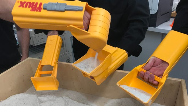 Little Falls-based toy company HandTrux sells digging toys the use the child's hand is part of the toy.
