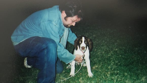 Tiger on his adoption day, in 2004.