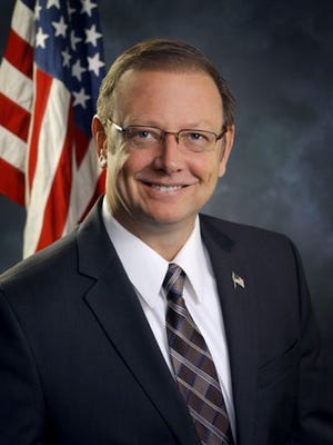 Republican Hans Riegle, a former Wyoming mayor and party official, has filed paperwork to run for Congress next year.