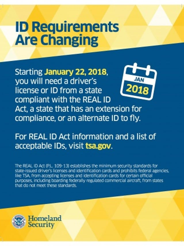 Is your state's driver's license TSA compliant?