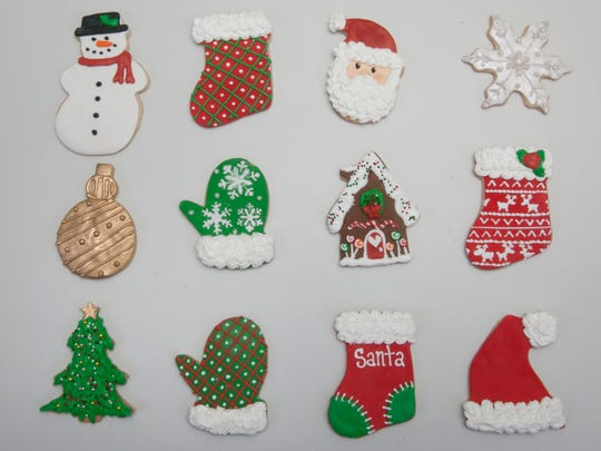 Decorative cookies from JenniCakes Bakery in Toms River.