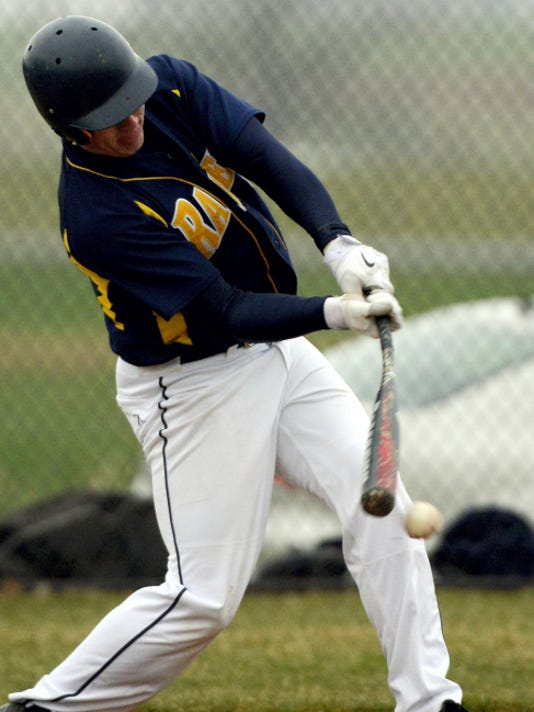 Elco's Tyler Horst connects with the ball against during a regular-season Section Three contest against Northern Lebanon on Wednesday.