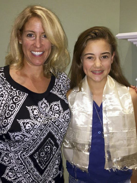 "Danielle Suppa, left, is pictured alongside her daughter Anne Marie Piermatteo. The Rotary Club of Hanover recognizes Ann Marie's selfless act as examplifying the Rotary's mission of ""Service Above Self."""