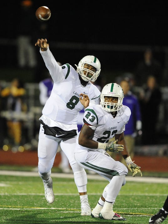 Prep Football Playoffs,  West Bloomfield at Bloomfield Hills
