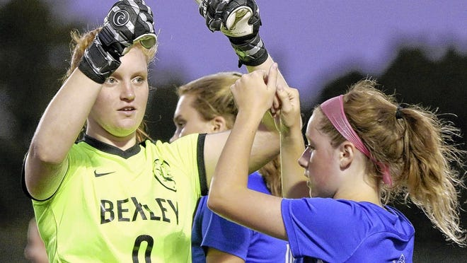 Junior goalie Katie Jude is among the returning staters for the Bexley girls soccer team after making second-team all-MSL-Ohio last season with 69 saves.