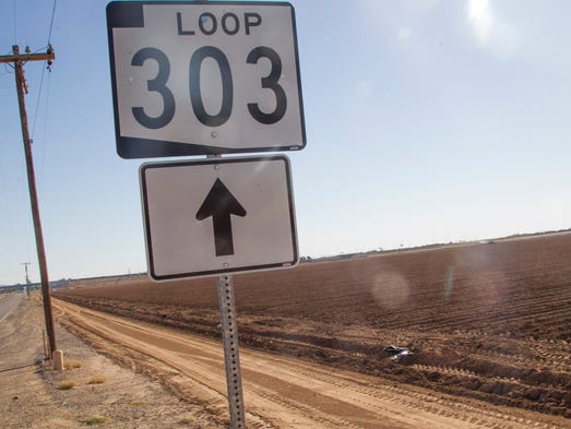 Vacant land runs all the way up to Highway 303 on Monday,