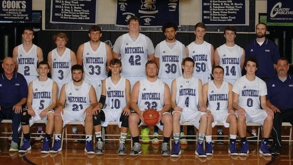 The Mitchell boys basketball team.