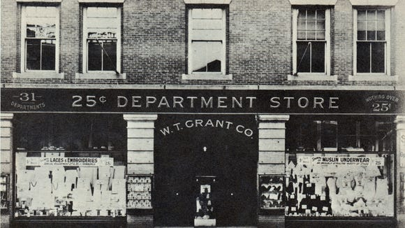 "This image of W.T. Grant's Department Store came from a pamphlet provided by reader Nancy Stong, compiled upon the death of Mr. William T. Grant. The caption provided on this photo notes, ""Mr. Grant invested his life savings of $1000 to open this, his first store. The year: 1906. The city: Lynn, Massachusetts."" York County would later be home to several Grant's department stores."
