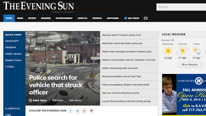 The Evening Sun launched its new look online.