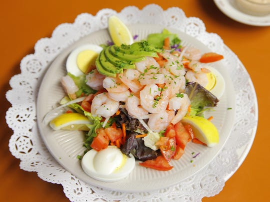 """A """"Shrimp Louie"""" from the Steinbeck House in Salinas on Friday afternoon."""