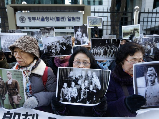 South Korean bereaved family members of victims of