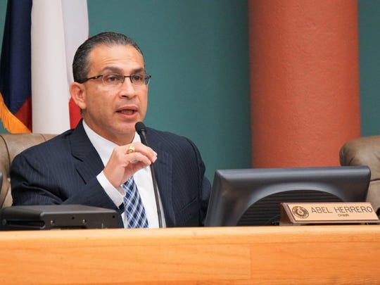 District 34 State Rep. Abel Herrero speaks during a