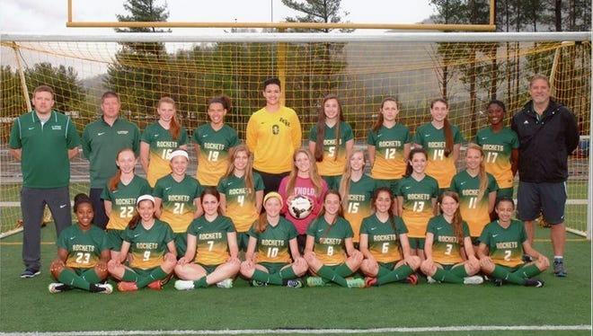 The Reynolds girls soccer team.
