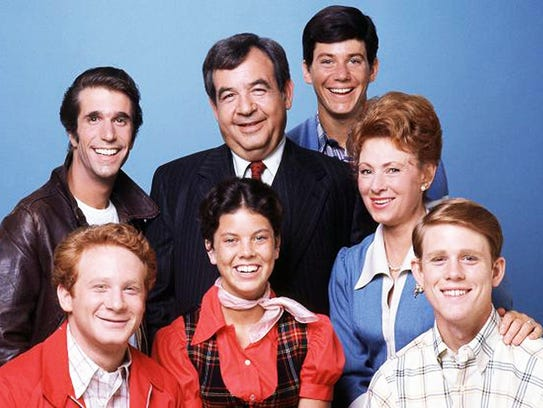 The cast of 'Happy Days'