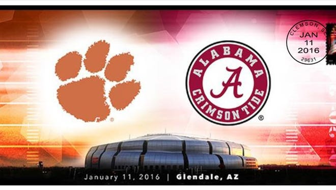 The USPS will offer special, limited edition envelopes honoring Clemson's rise to the College National Football Championship game with Alabama. Sales begin Jan. 11, the day of the game.