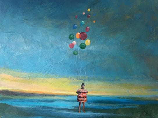 Danuta Rothschild, Balloons 2, mixed media