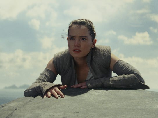 Rey (Daisy Ridley) seeks out Luke Skywalker in 'Star