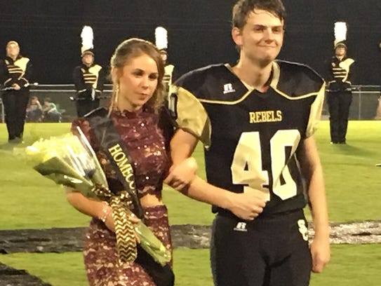 Junior Attendant Madi Wallace and her escort Griffin