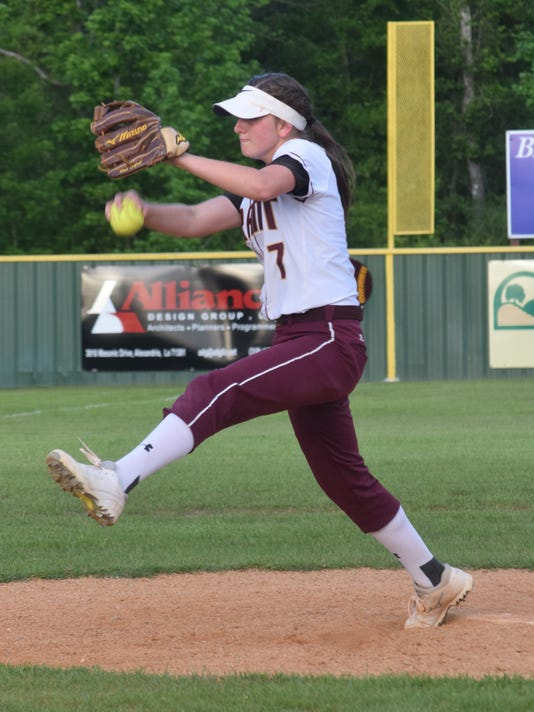 Grant High School girls softball team takes on Breaux Bridge Friday, April 14, 2017.