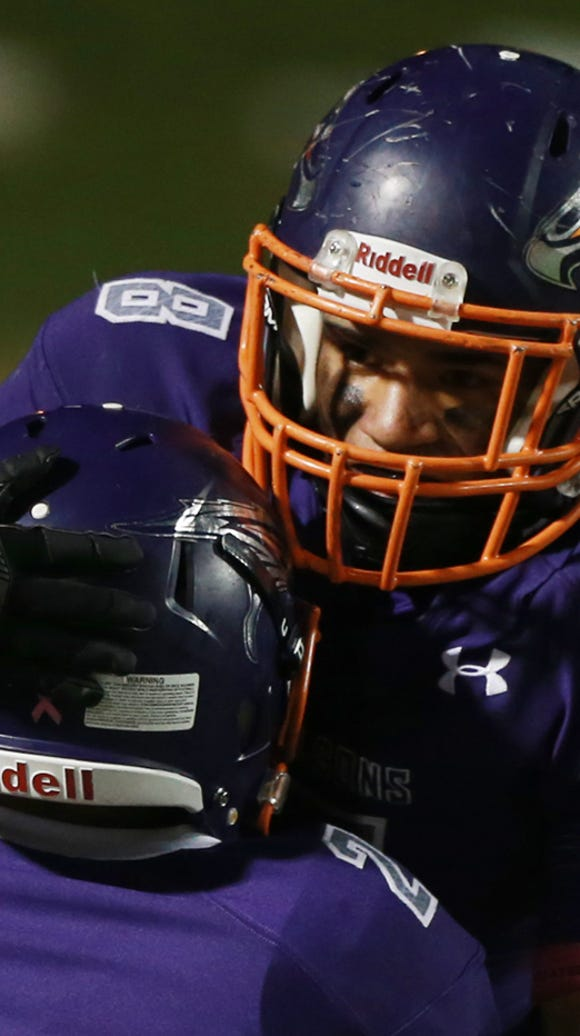 Eastlake running back Adrian Chavez was hoisted by