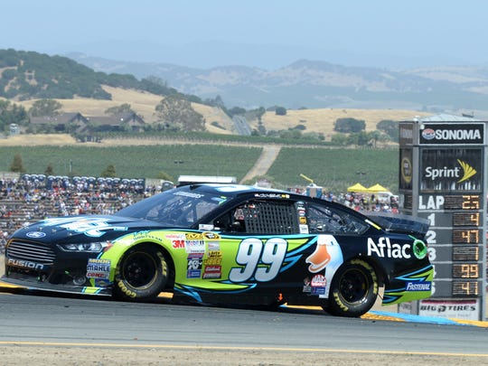 Carl Edwards earned one of his two 2014 victories on the road course at Sonoma Raceway.