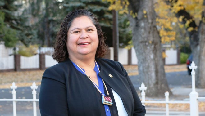 Paula Smith of Dayton, a Yerington native, received the American Indian Youth Services/Role Model of the Year award at the 2014 American Indian Achievement Awards Banquet earlier this month.