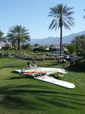 Mechanical failures caused a pilot to make an emergency landing on a La Quinta golf course