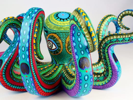 This octopus figure is by featured artist Mario Castellanos