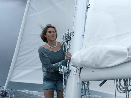 """Tami (Shailene Woodley) struggles for survival in """"Adrift."""""""