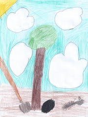 People are cutting down trees. I would have everyone who cuts down a tree, plant two more trees to save the earth's air. I would become a tree planter and plant a lot of trees to help save the Amazon Rain Forest.   Reece Underwood  Grade 3, Highland Elementary School