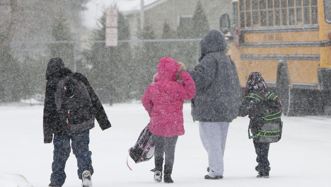 At the Herbertsville School in Brick, children left school early during a snow storm in 2014.