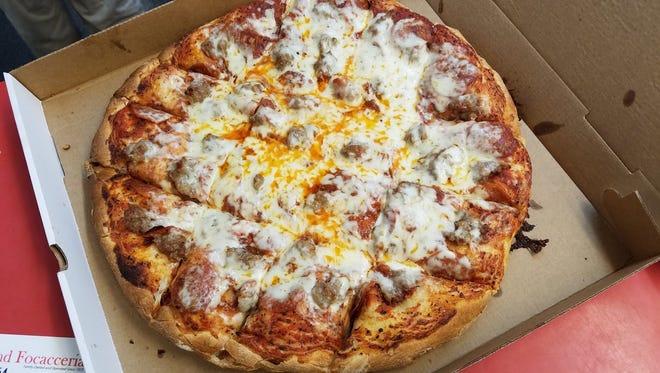 Pizza Rustica at Nino's.